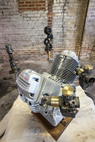 Moto Guzzi beer tap by Andrew Graham
